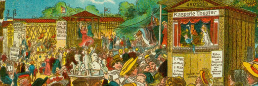 collection of historical arts of marionetts and puppets